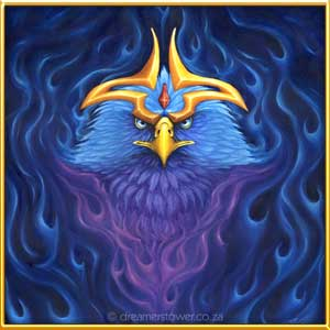 Blue Flame is a gift to my Mother for all the help and support she has done for me, and we both imagined a Phoenix with a difference. - completed in April 2016